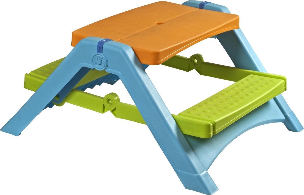 Mesa plegable plastica de trabajo o picnic pieza unica en mercado libre - Mesa infantil plegable ...