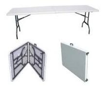 mesa plegable portátil tipo maletín .183 cms