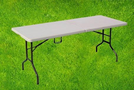mesa plegable portátil tipo maletín.