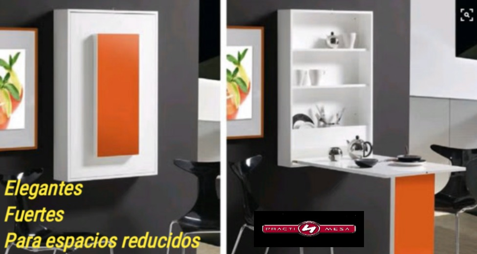 Muebles plegables para espacios pequeos perfect mesa for Mesa plegable de pared