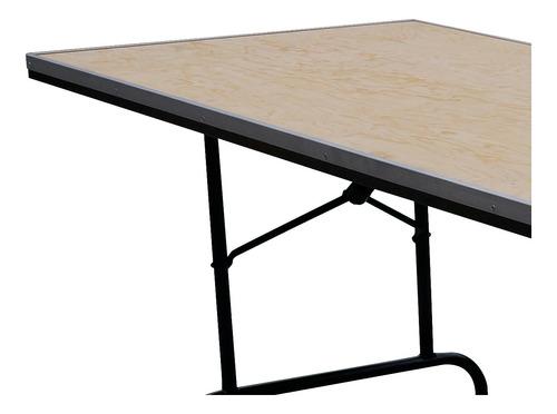 mesa plegable rectangular 244 estructura acero triplay durex