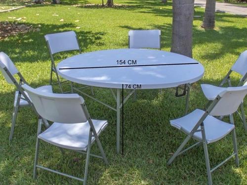 mesa plegable redonda 154cm