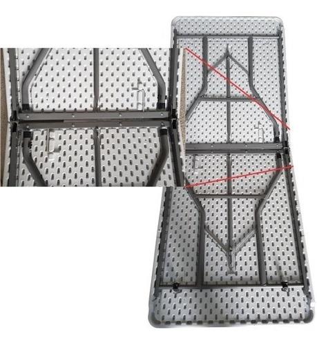 mesa plegable reforzada portafolio 1.80m de plastico
