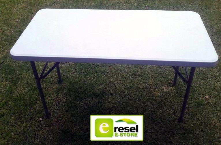 Mesa plegable resel de plastico p eventos camping - Mesa plegable exterior ...