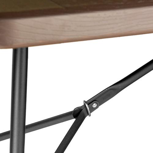 mesa plegable resistente imitacion madera jardin 1.80m