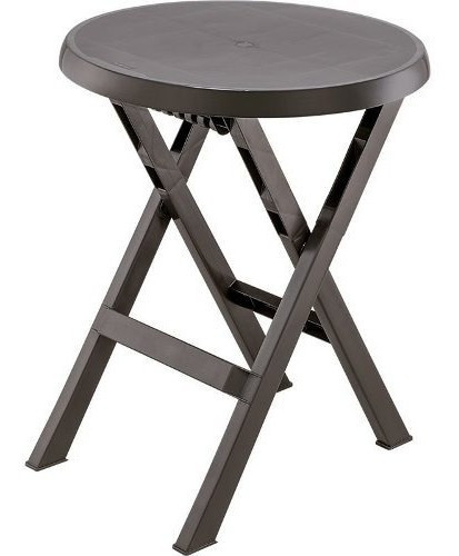 mesa plegable rimax redonda wengue