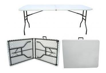 mesa plegable tipo 1.80m  portafolio plastico jardin evento