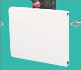 mesa plegable tipo maletín 1.80x74x75