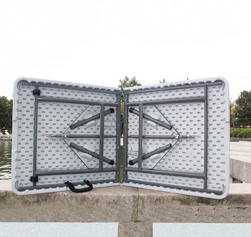 mesa plegable tipo maletin portable 124x61x75cms + obsequio