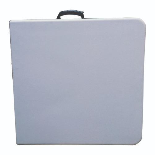 mesa plegable tipo portafolio 1.24m de plastico eventos