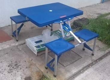mesa plegable tipo portafolio