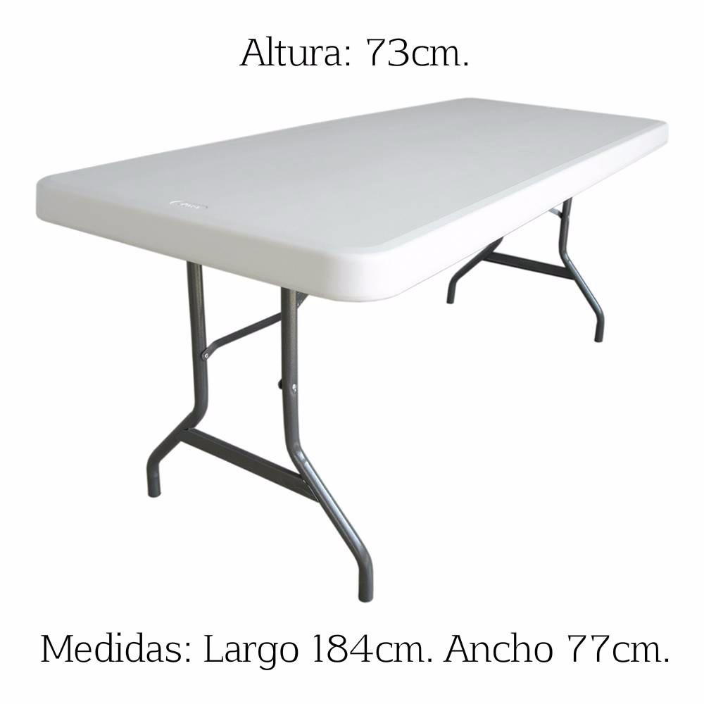 Mesa plegable verona 180cm tipo lifetime con env o gratis for Mesa plegable lifetime