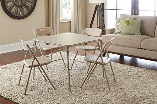 mesa plegable y sillas, cinco piezas- envío gratis