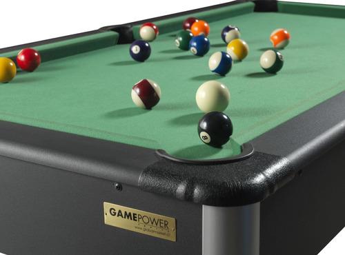 mesa pool madera 182 x 91 x 78 cm negro. (c/envío stgo)