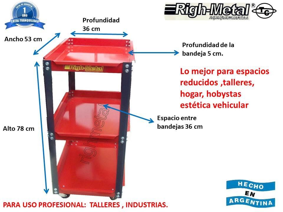 Mesa Porta Herramientas De 3 Bandejas Righmetal -   2.538 983233746745