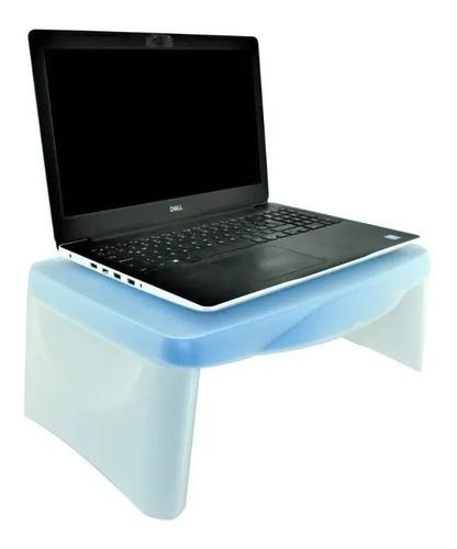 mesa portatil laptop plegable plástico con organizador cama