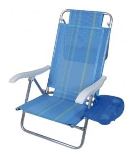 mesa portátil para cadeira praia porta copo celular mor