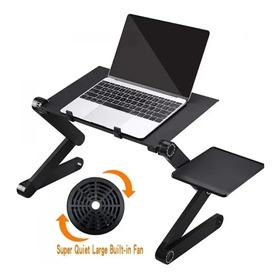 Mesa Portátil Para Computador Base Plegable Dos Ventiladore