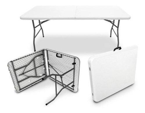mesa portatil plegable 180cm reforzada con aguarradera