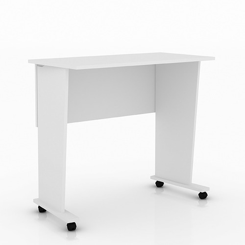 Mesa P Pc O Notebook Plegable Con Ruedas Blanca En