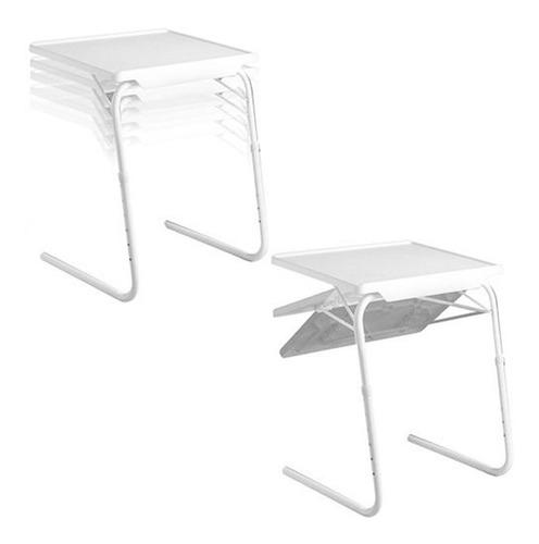 mesa práctica y portátil table mate blanca