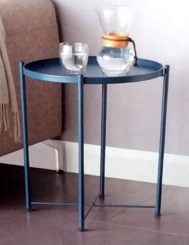 mesa preta lateral bandeja decoração moderna de sala quarto
