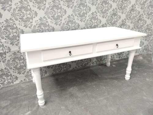 mesa provençal branca 1.80 mdf - pé torneado