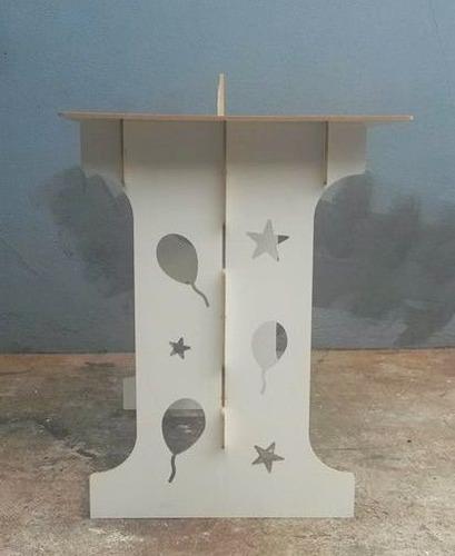 mesa provençal desmontável branco mdf + brinde