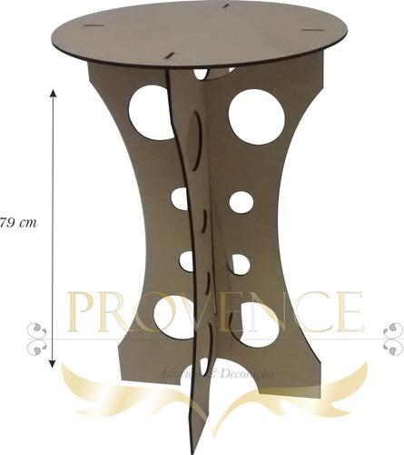mesa provençal redonda em mdf