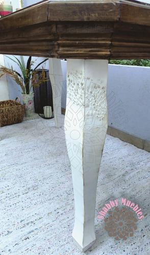 mesa provenzal luis xv 140 x 80