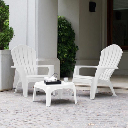 mesa puket auxiliar blanca jardin patio garden life kromo-s