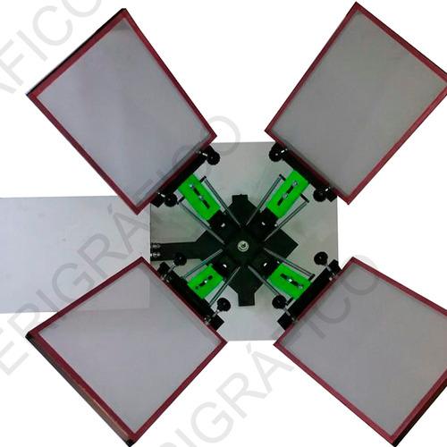 mesa pulpo calesita 4x1 serigrafia + schablon 30x40 47# + manigueta 20cm