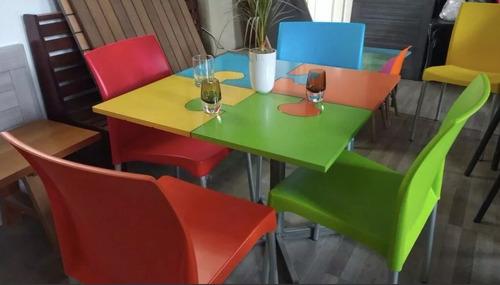 mesa puzzel 4 sillas vivi restaurantes  cafeterías