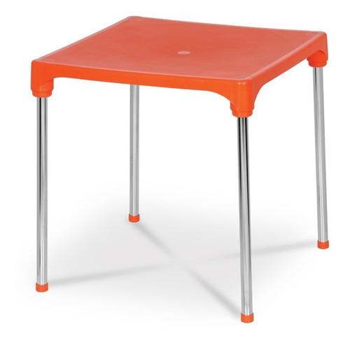 mesa quadrada desmontável  70x70x72cm c/ 8 cores d