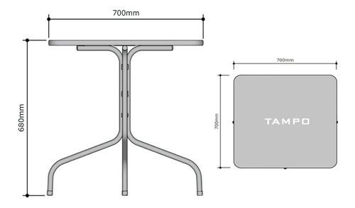 mesa quadrada lanchonete, açai, sorveteria - promoção