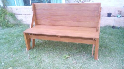 mesa que vira banco/móveis de madeira sc