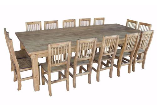 mesa quincho 3.00 m + 14 sillas,mesa, mesa navideña año nuev