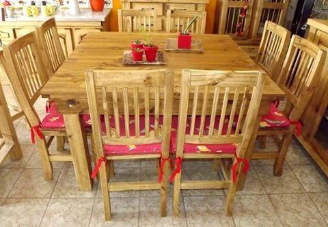 mesa quincho, mesa de campo, 1.27 m x 1.27 m, maciza de pino