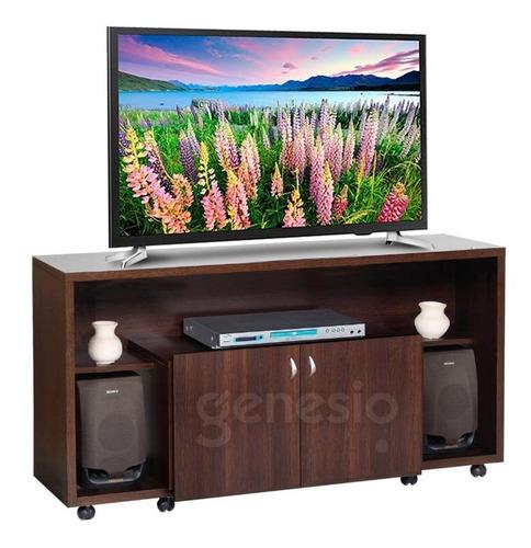 mesa rack para tv led audio platinum 2604 1mt