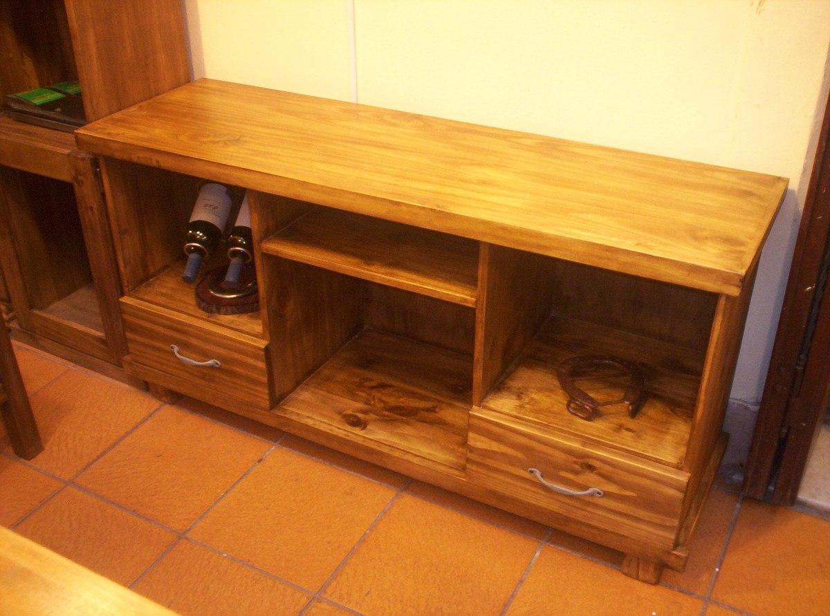 Muebles para tv rusticos mesa tv con puertas rstica for Mesas televisor plasma