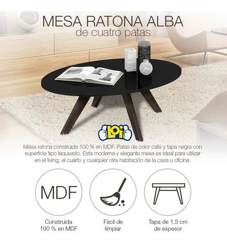 mesa ratona alba 4 patas excelente calidad colores en loi