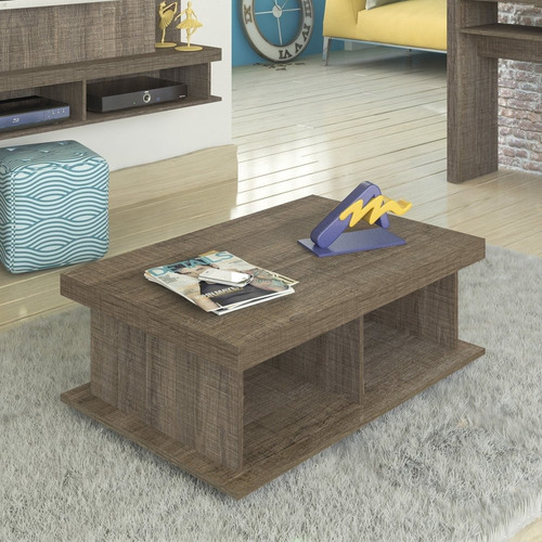 mesa ratona artely duna c/ruedas color madera estilo rustico