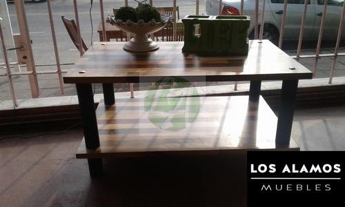 mesa ratona con hierro los alamos muebles