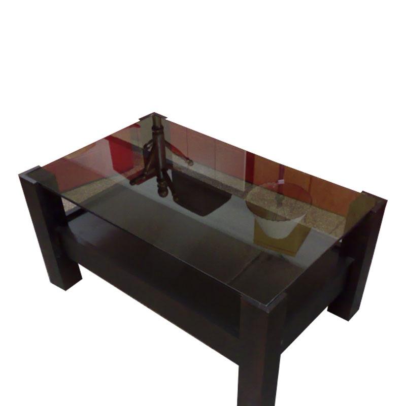 Mesa ratona con vidrio y revistero para living 6 - Mesas de vidrio ...