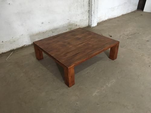 mesa ratona de madera estilo rústico elegante