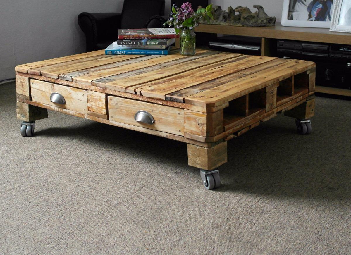 mesa ratona de madera palet