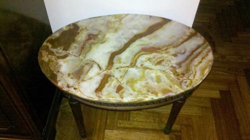 mesa ratona de marmol estilo luis xv