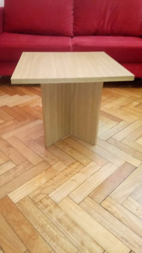 mesa ratona de melamina color madera
