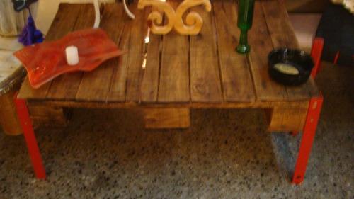 mesa ratona de palet