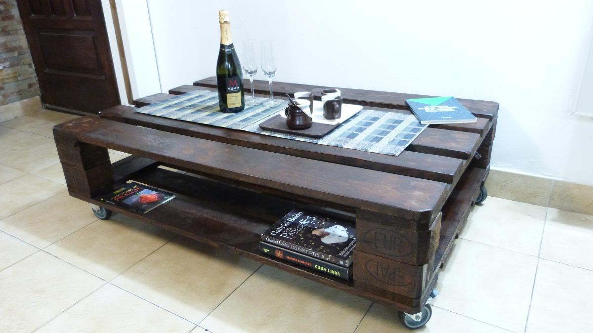 Mesa Ratona De Palet Reciclado Para Living Y/o Jardín - $ 1.750,00 ...